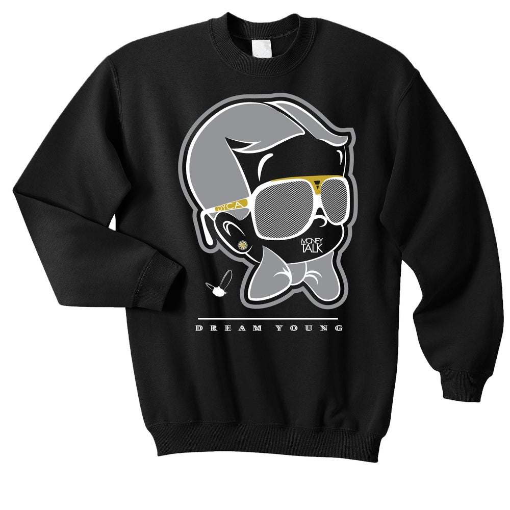 "Image of ""MONEY TALK"" BLACK/CREW NECK"