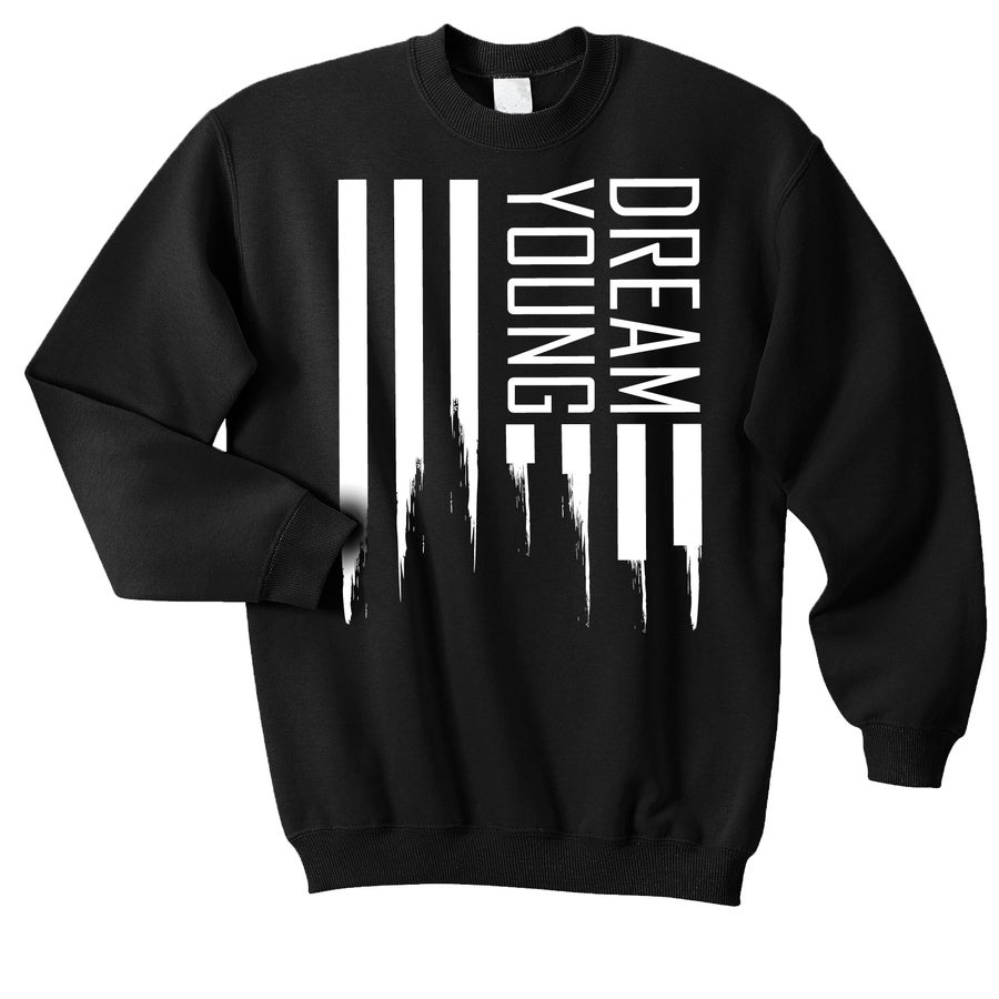 "Image of ""DREAM FLAG"" BLACK/CREW NECK"