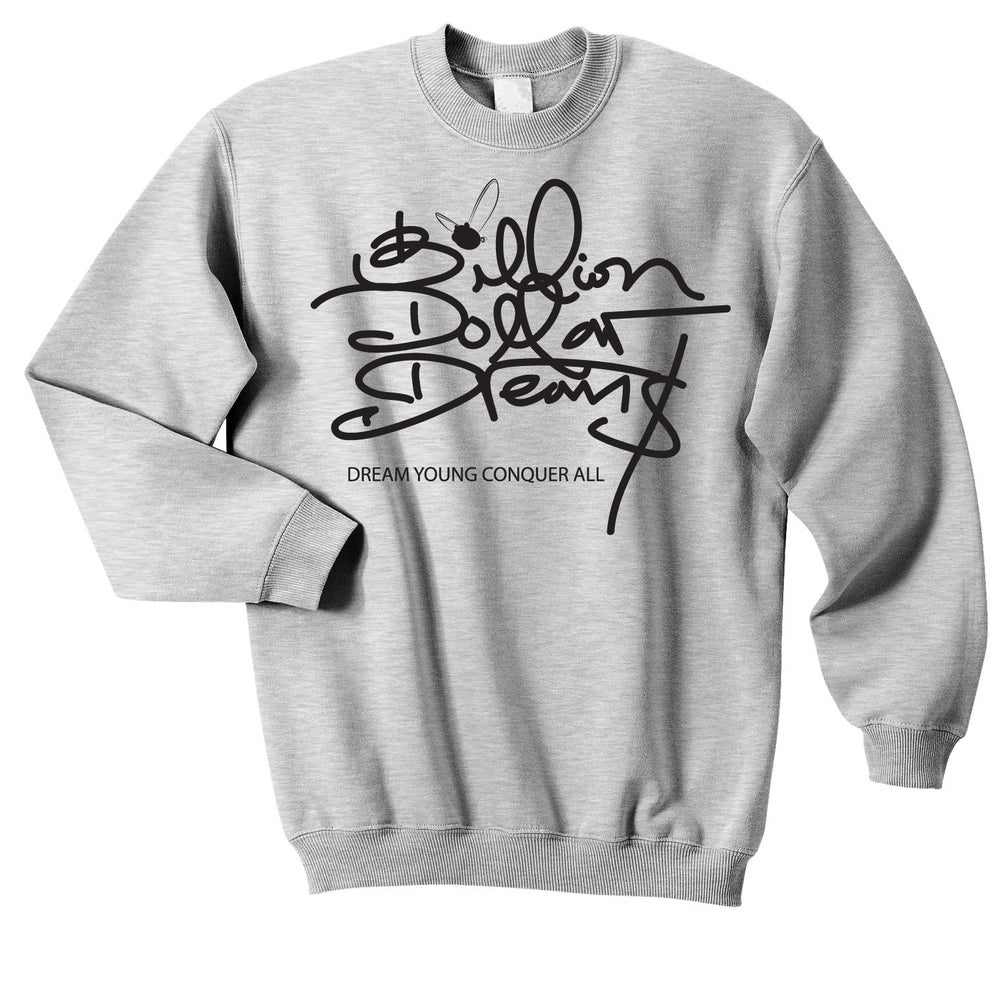 "Image of ""BILLION DOLLAR DREAM$"" SPORTS GREY/CREW NECK"