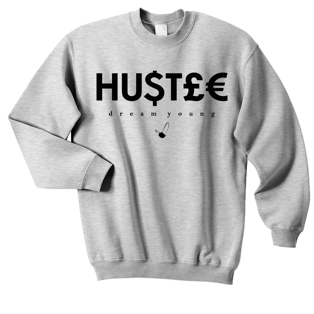"Image of ""HU$T£€"" SPORTS GREY/CREW NECK"
