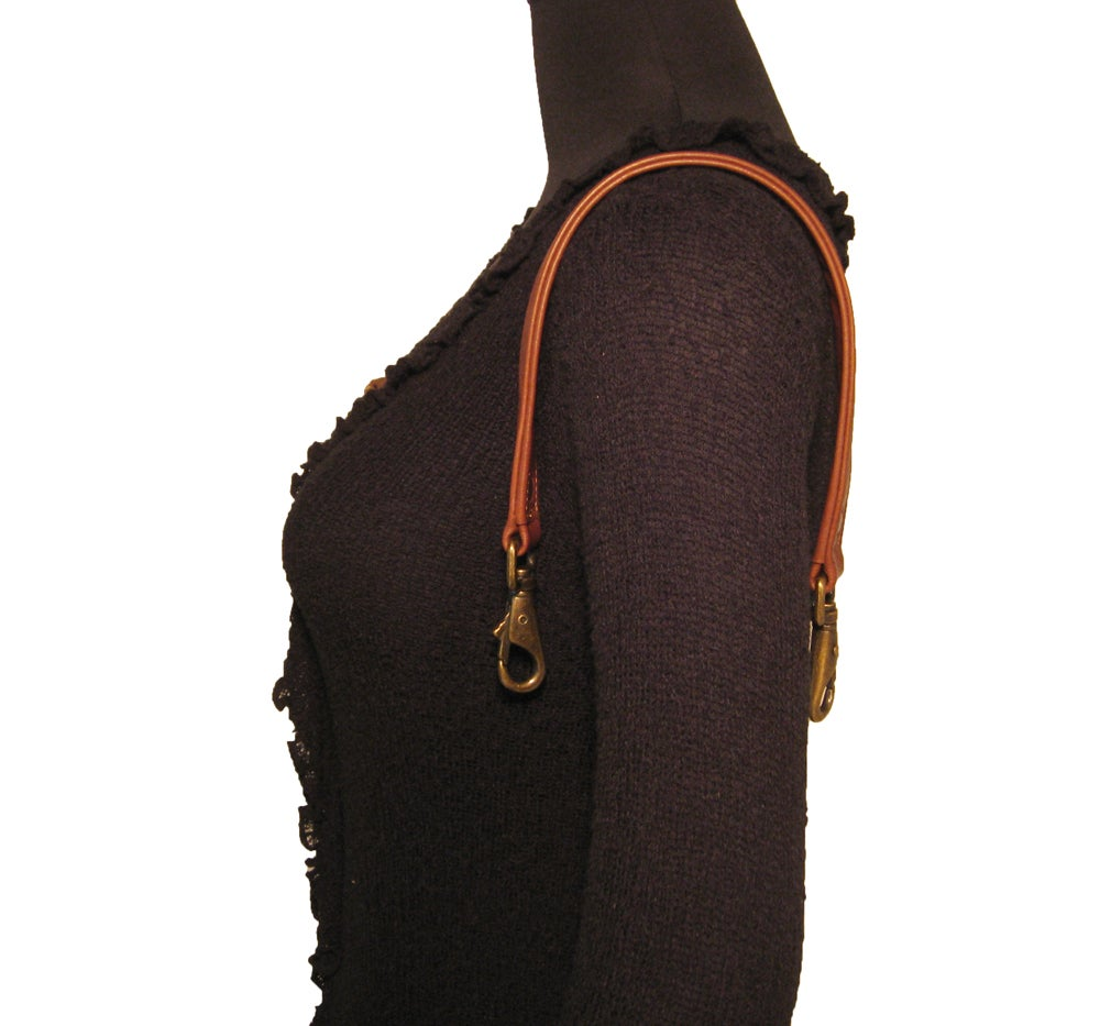 """Image of 20"""" (inch) Long Leather Strap 1"""" (inch) Wide - Your Choice of Color & Large O-Ring Hardware Finish"""