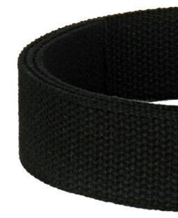"Image of Cotton Canvas Webbing Strap - Adjustable - 1.5"" Wide - Choose Color & Length - Nickel/Black Hook #6"