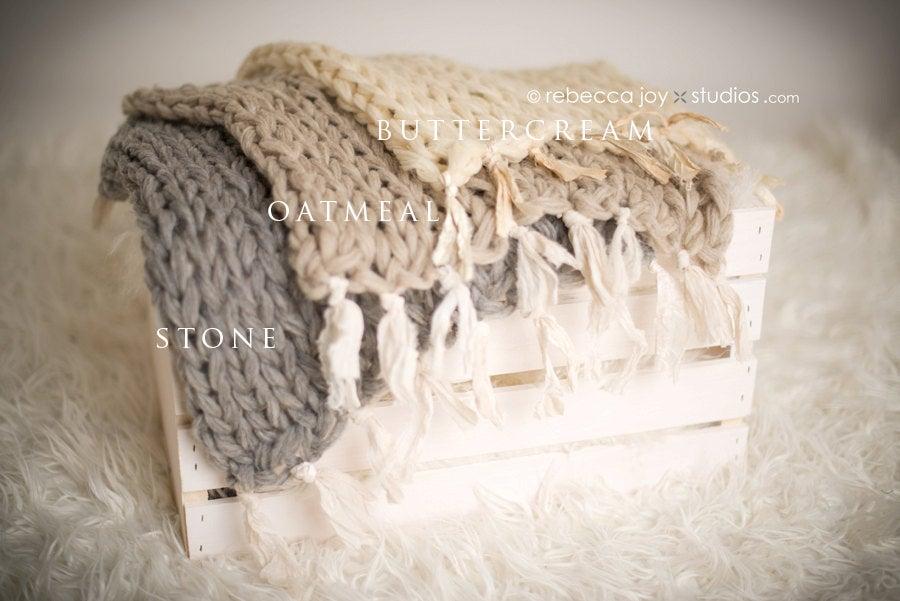 Image of {Organics Collection} Natural Mini Blanket & headband SET