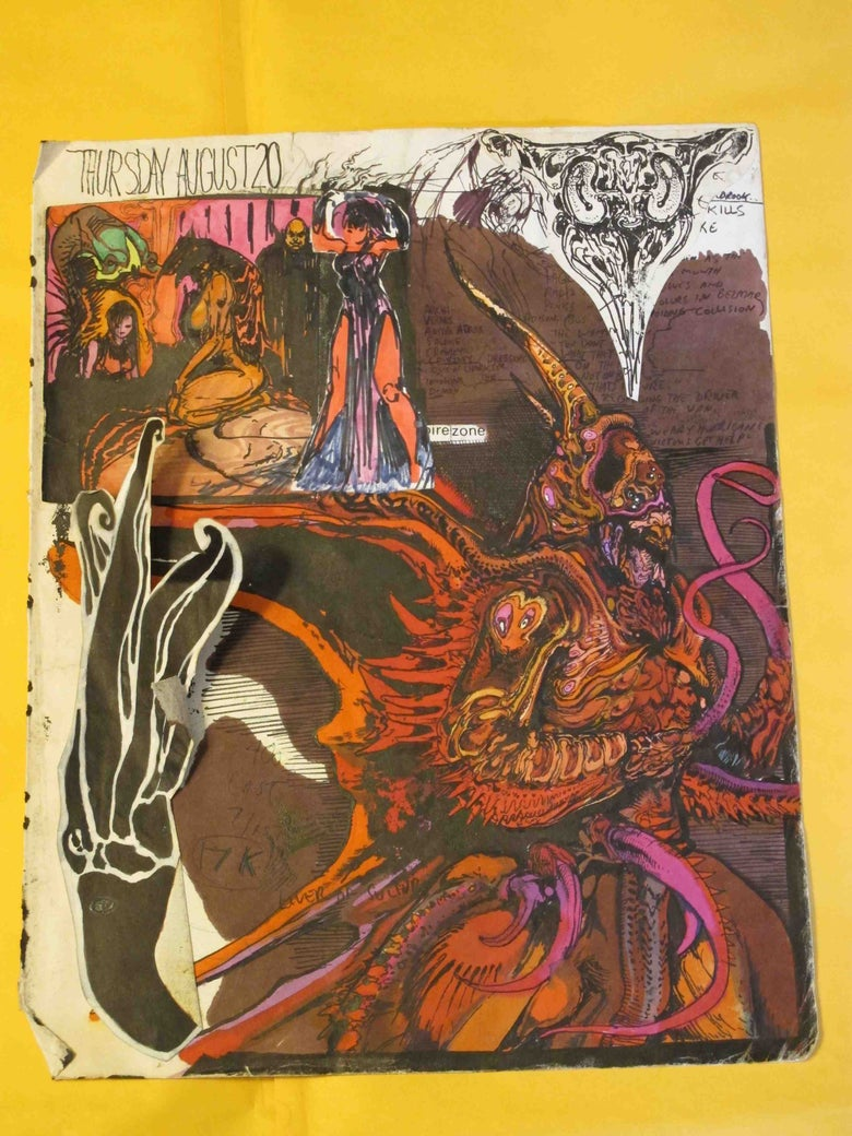Image of Original Double Sided sketchbook page - Paul Komoda!