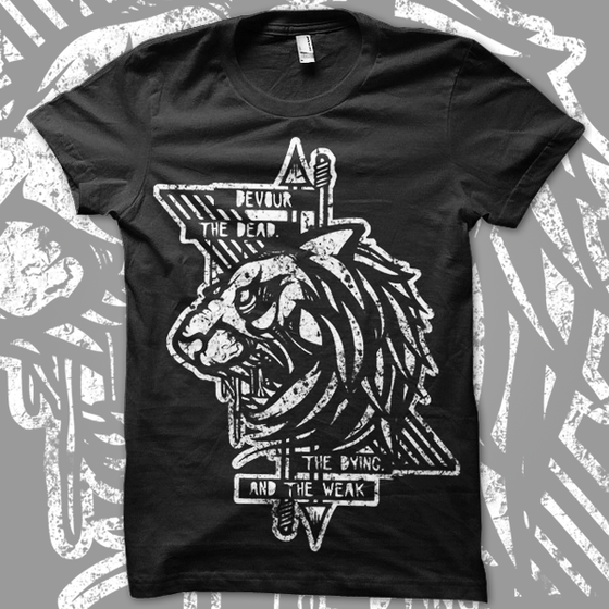 Image of DEVOUR || Men's Black Tee