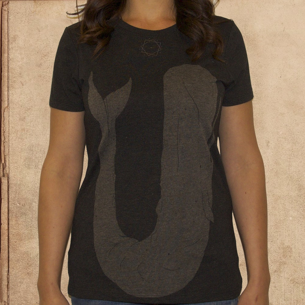Image of Moby Dick - Girls - tri blend - discharge ink