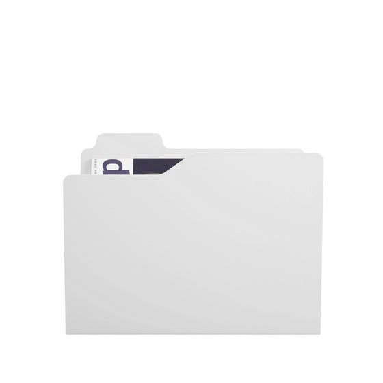 Image of Folder white