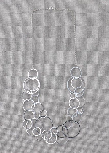 Image of Silver Hoop Necklace