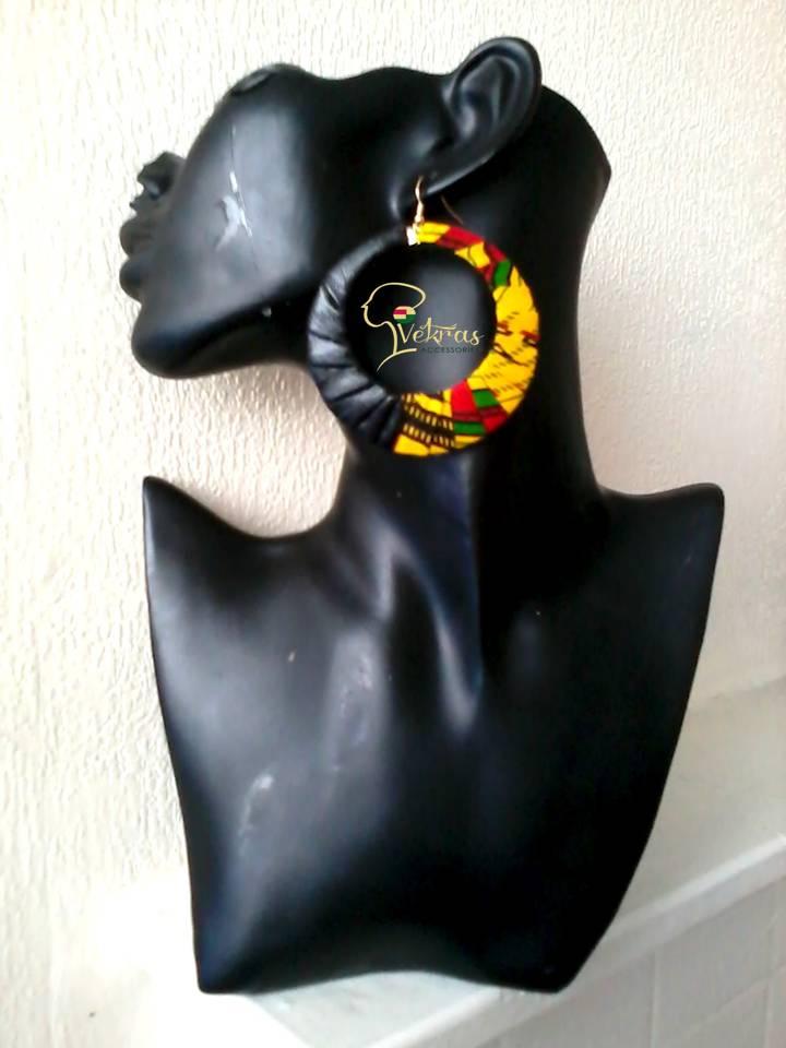 Image of Vekras LeaKente Dangle Hoop Earrings