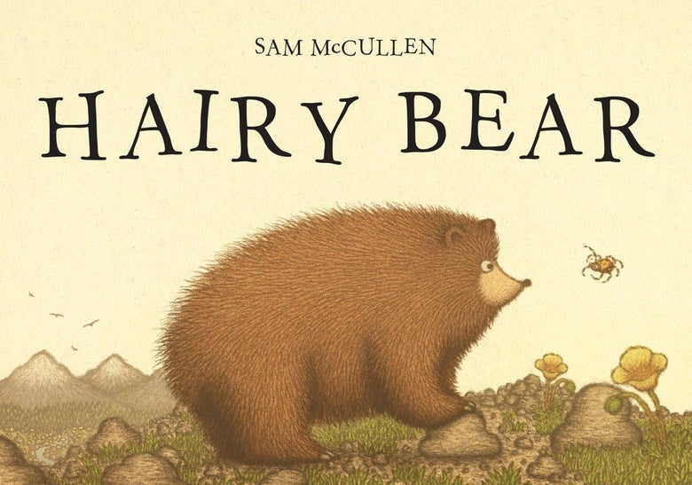 Image of HAIRY BEAR by Sam McCullen (signed paperback picturebook)