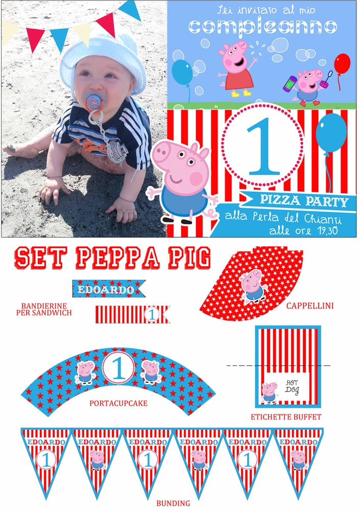 Image of Set compleanno Peppa Pig George