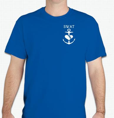 Image of SWAT Anchor Tee (Unisex Blue)