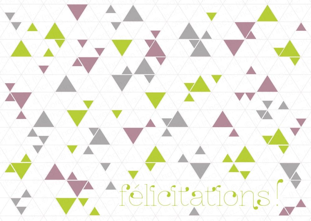 "Image of carte▲triangolini▲ ""félicitations!"""