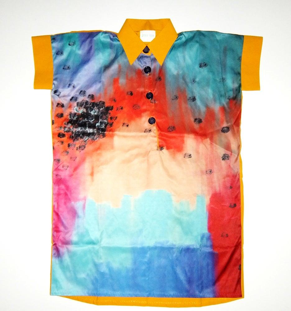 Image of Rainbow Oversize Long Shirt-Dress
