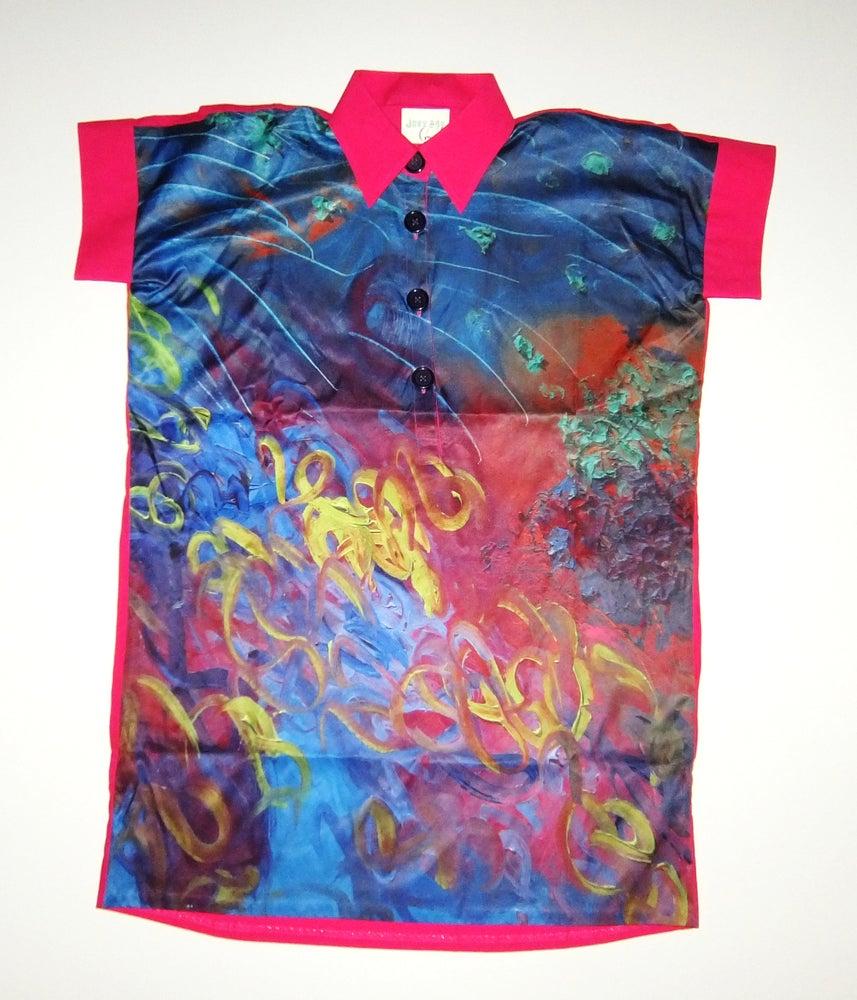 Image of Garden Oversize Long Shirt-Dress