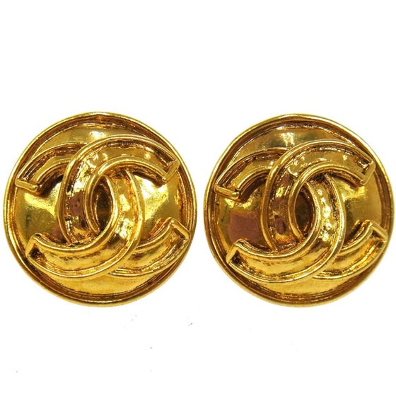 Image of Chanel CC 94P Logo Vintage Earrings