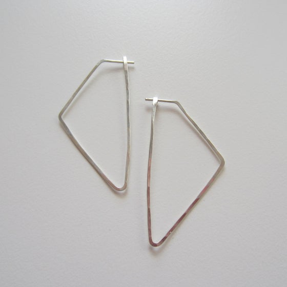 Image of Sterling Silver Kolmio Earrings