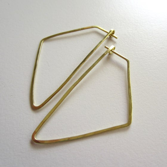 Image of Brass Kolmio Earrings