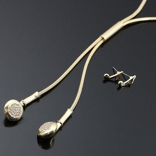 Image of Studded Headphones Necklace Set
