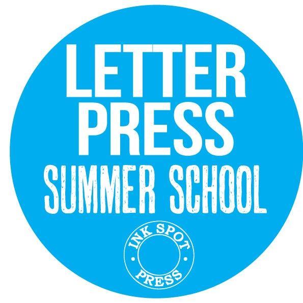 Image of LETTERPRESS SUMMER SCHOOL: Mon. Sept. 11th. - Fri. Sept.15th. 2017 £ 395.00