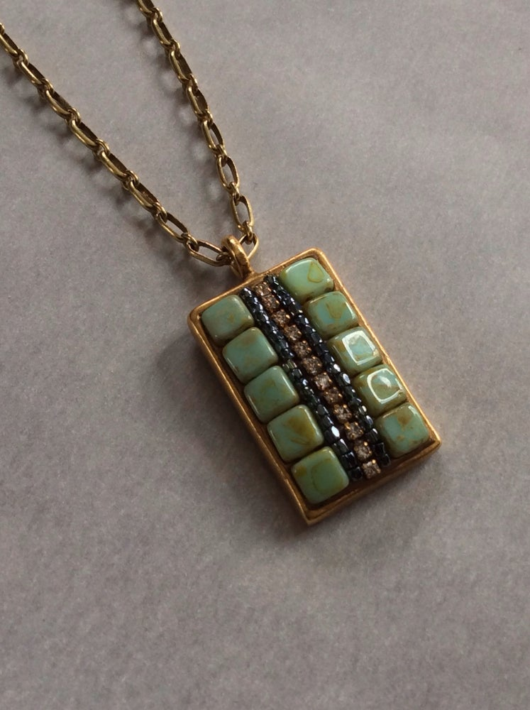 Image of collage necklace