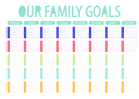 Image of Family Goal Chart