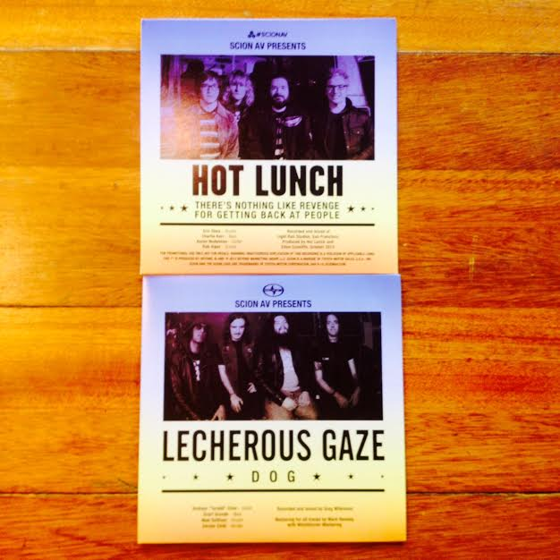 "Image of Hot Lunch / Lecherous Gaze Split 7"" Yellow Vinyl"