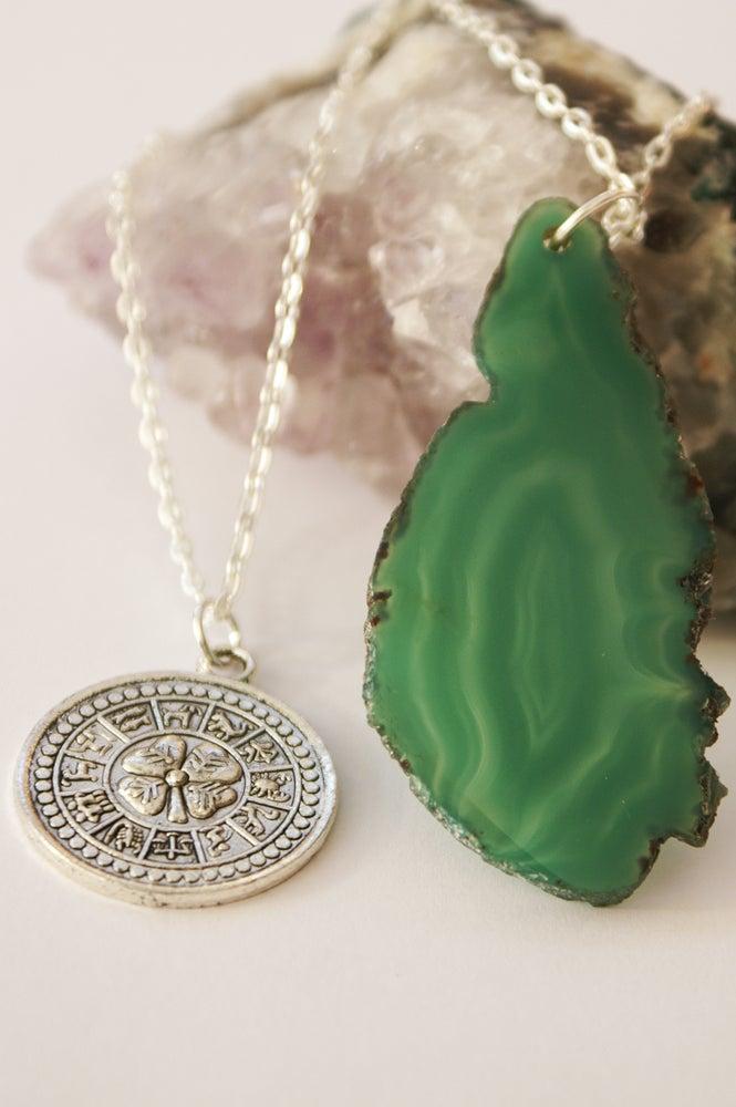Image of Irish Luck Green Agate Pendant