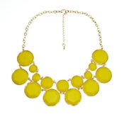 Image of Double Layer necklace: Yellow