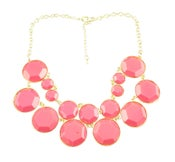Image of Double Layer necklace: Coral Pink