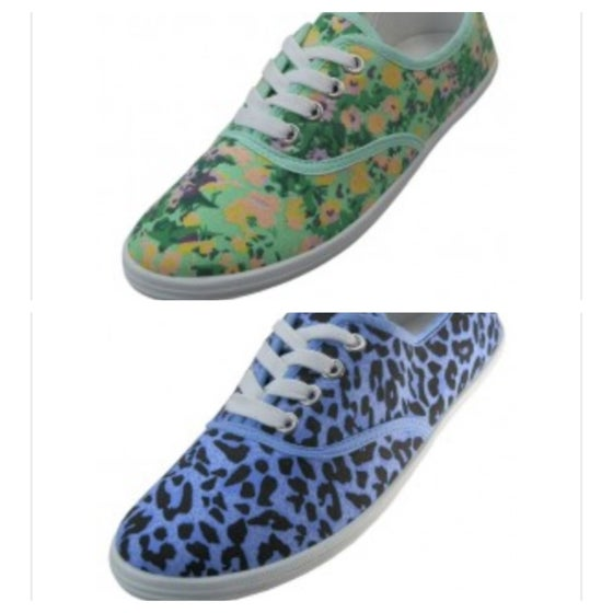 Image of Printed Canvas Sneaker