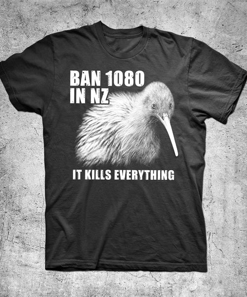 Image of Ban 1080 in NZ T-shirts and Singlets Fundraiser