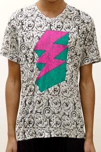 Image of Regular Fit T-Shirt With Ornate Bolt Print