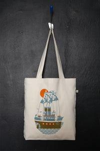 "Image of ""Santorini Arrival"" shopper tote bag"