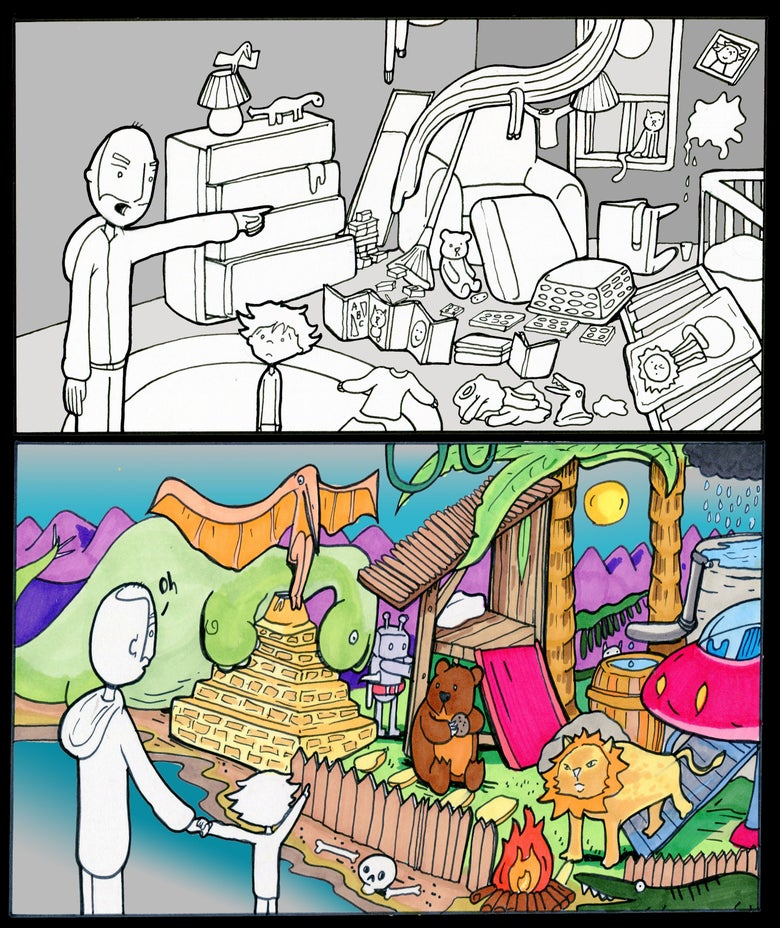 """Image of Lunarbaboon """"Mess"""" Print"""