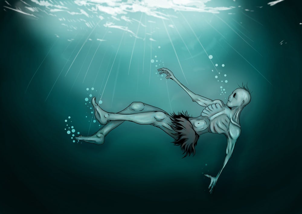 Image of Drowning A3 (16.5 x 11.7 inches) print