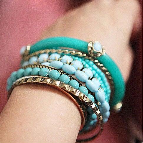 Image of Fashion Beads Pearl Multilayer Bohemia Bracelet