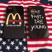 Image of Eat fast die young iPhone cases