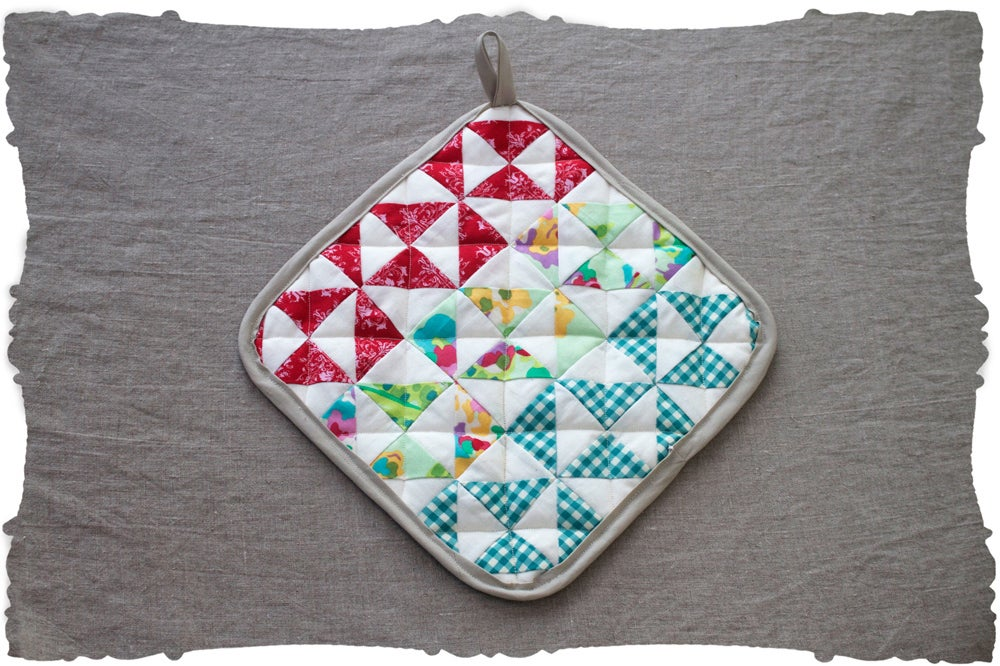 Image of quilting triangles lessons pattern