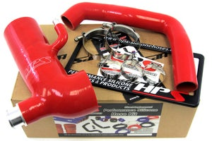 Image of HPS Silicone Air Intake Post MAF Hose + Sound Tube RED