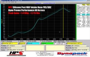 Image of HPS Silicone Air Intake Post MAF Hose + Sound Tube Black