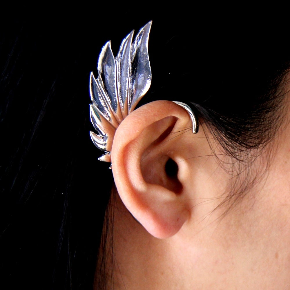 Image of Angel Wings Earring Cuff, SW265 Gold and Silver