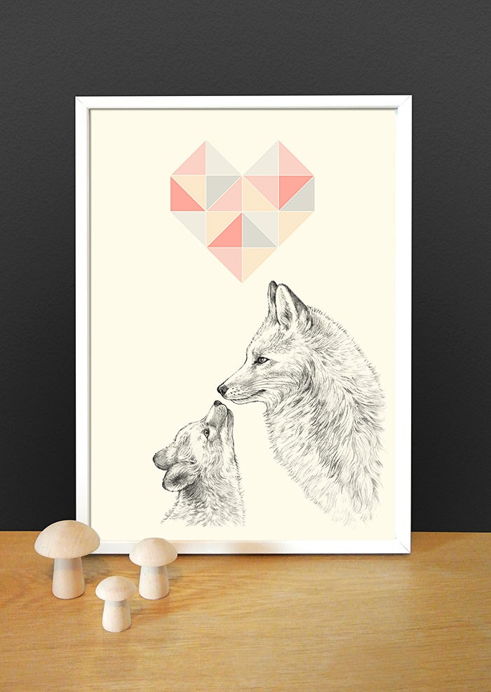 Image of Affiche A4 Les renards