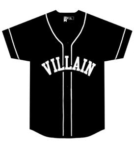 Image of Villain Baseball Jersey ( Black)