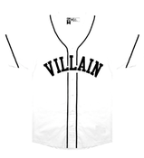 Image of Villain Baseball Jersey (White)