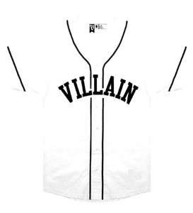 Image of Villain Baseball Jersey (White)
