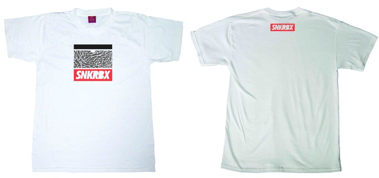 "Image of SNKRBX ""Logo Tee"" Chicago"
