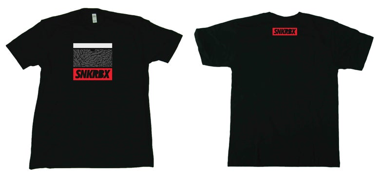 "Image of SNKRBX ""Logo Tee"" Bred"