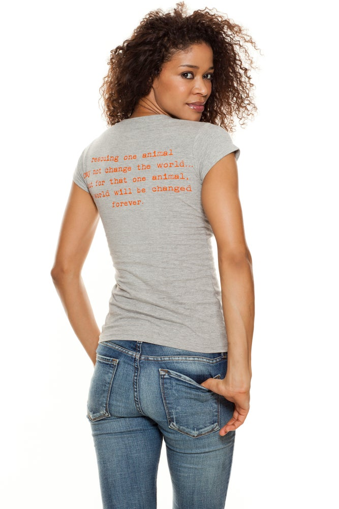 Image of girl's recycled cotton classic tiny tim v-neck