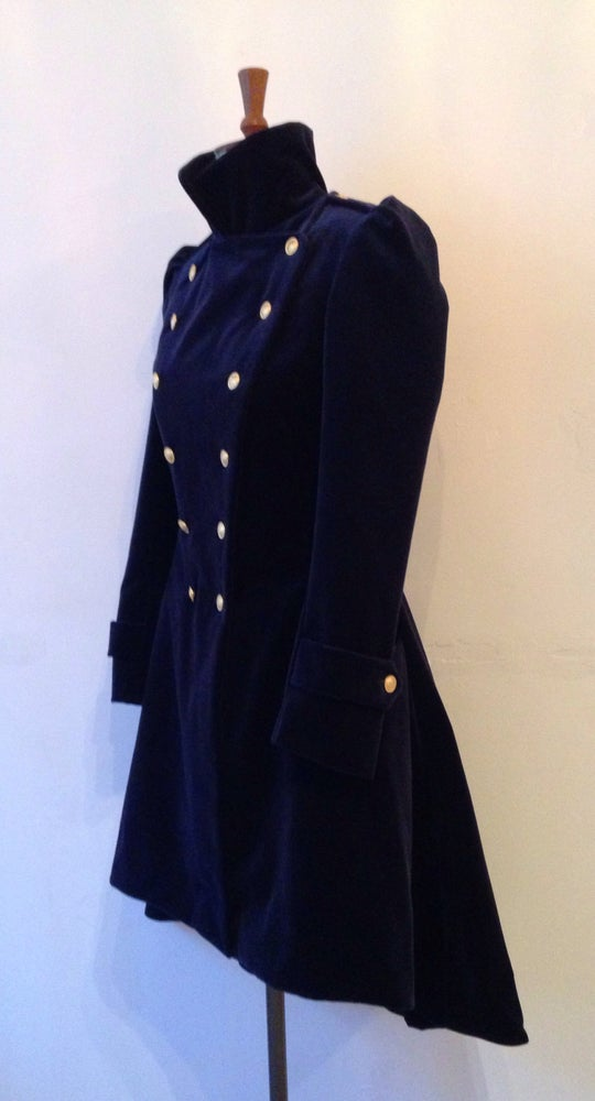 Image of Velvet frock coat